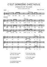 Téléchargez l'arrangement de la partition de Traditionnel-C-est-derriere-chez-nous en PDF à trois voix