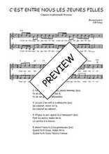 Téléchargez l'arrangement de la partition de Traditionnel-C-est-entre-nous-les-jeunes-filles en PDF à deux voix