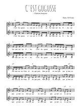 Téléchargez l'arrangement de la partition de Traditionnel-C-est-Gugusse en PDF à deux voix