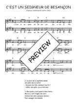 Téléchargez l'arrangement de la partition de Traditionnel-C-est-un-Seigneur-de-Besancon en PDF à deux voix