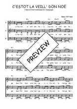 Téléchargez l'arrangement de la partition de Traditionnel-C-estot-la-veill--don-Noe en PDF à trois voix