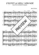 Téléchargez l'arrangement de la partition de Traditionnel-C-estot-la-veill--don-Noe en PDF à quatre voix