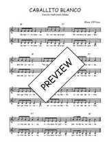 Téléchargez l'arrangement de la partition de Traditionnel-Caballito-blanco en PDF à deux voix