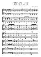 Téléchargez l'arrangement de la partition de Traditionnel-Cadet-Rousselle en PDF à deux voix