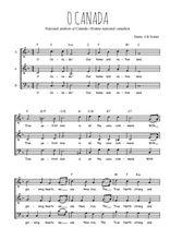 Téléchargez l'arrangement de la partition de Traditionnel-O-Canada en PDF à trois voix