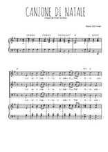 Téléchargez la partition de Canzone di natale en PDF pour 3 voix SAB et piano