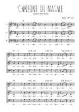 Téléchargez l'arrangement de la partition de Traditionnel-Canzone-di-natale en PDF à trois voix
