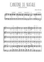 Téléchargez la partition de Canzone di natale en PDF pour 4 voix SATB et piano