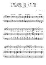 Téléchargez la partition de Canzone di natale en PDF pour Chant et piano