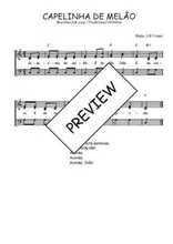 Téléchargez l'arrangement de la partition de Traditionnel-Capelinha-de-melao en PDF à trois voix