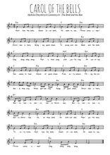 La partition gratuite de Carol of the bells