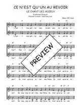 Téléchargez l'arrangement de la partition de Traditionnel-Ce-n-est-qu-un-au-revoir-le-chant-des-adieux en PDF à deux voix