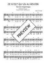 Téléchargez l'arrangement de la partition de Traditionnel-Ce-n-est-qu-un-au-revoir-version-maconnique en PDF à deux voix