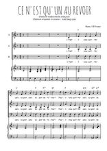Téléchargez la partition de Ce n'est qu'un au revoir en PDF pour 3 voix SAB et piano