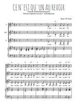 Téléchargez la partition de Ce n'est qu'un au revoir en PDF pour 3 voix SSA et piano