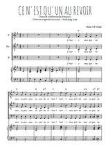 Téléchargez la partition de Ce n'est qu'un au revoir en PDF pour 3 voix TTB et piano