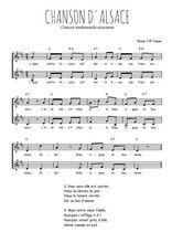 Téléchargez l'arrangement de la partition de Traditionnel-Chanson-d-Alsace en PDF à deux voix