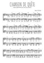 Téléchargez l'arrangement de la partition de Traditionnel-Chanson-de-quete en PDF à deux voix