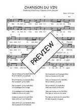 Téléchargez l'arrangement de la partition de Traditionnel-Chanson-du-vin en PDF à deux voix
