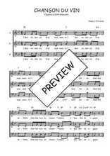Téléchargez l'arrangement de la partition de Traditionnel-Chanson-du-vin en PDF à trois voix