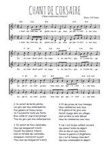 Téléchargez l'arrangement de la partition de Traditionnel-Chant-de-corsaires en PDF à deux voix