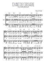 Téléchargez l'arrangement de la partition de Traditionnel-Chant-de-corsaires en PDF pour trois voix de femmes