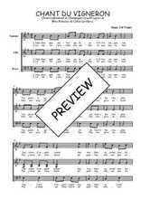 Téléchargez l'arrangement de la partition de Traditionnel-Chant-du-vigneron-Champagne en PDF à trois voix