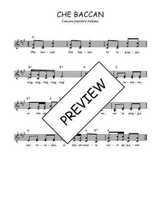 Téléchargez l'arrangement de la partition de Traditionnel-Che-baccan en PDF à deux voix