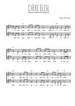 Téléchargez l'arrangement de la partition de chere-elise en PDF à deux voix