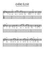 Téléchargez la tablature de la musique chere-elise en PDF