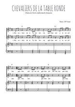 Téléchargez la partition de Chevaliers de la Table ronde en PDF pour 2 voix égales et piano