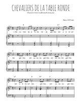 Téléchargez la partition de Chevaliers de la Table ronde en PDF pour Chant et piano