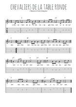 Téléchargez la tablature de la musique chevaliers-de-la-table-ronde en PDF