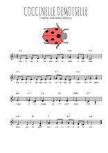 Téléchargez l'arrangement de la partition de Traditionnel-Coccinelle-demoiselle en PDF à deux voix