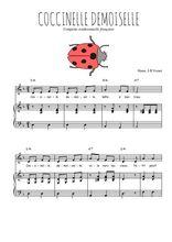 Téléchargez la partition de Coccinelle demoiselle en PDF pour Chant et piano