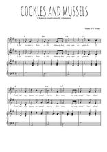 Téléchargez la partition de Cockles and mussels en PDF pour 2 voix égales et piano