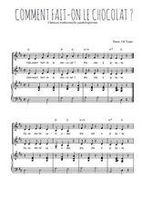 Téléchargez la partition de Comment fait-on le chocolat en PDF pour 2 voix égales et piano