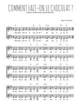 Téléchargez l'arrangement de la partition de Traditionnel-Comment-fait-on-le-chocolat en PDF à deux voix