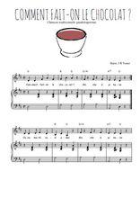 Téléchargez la partition de Comment fait-on le chocolat en PDF pour Chant et piano