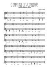 Téléchargez l'arrangement de la partition de Traditionnel-Comptine-des-couleurs en PDF à deux voix