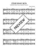 Téléchargez l'arrangement de la partition de Traditionnel-Cung-nhay-mua en PDF à deux voix