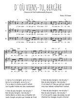 Téléchargez l'arrangement de la partition de Traditionnel-D-ou-viens-tu en PDF à trois voix