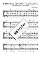 Téléchargez l'arrangement de la partition de Traditionnel-Daar-reed-een-boer-naar-Leuven en PDF à deux voix
