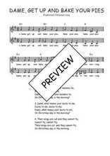 Téléchargez l'arrangement de la partition de Traditionnel-Dame-get-up-and-bake-your-pies en PDF à deux voix