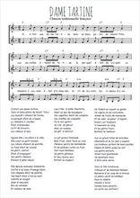 Téléchargez l'arrangement de la partition de Traditionnel-Dame-tartine en PDF à deux voix