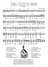 La partition gratuite de Dans l'église de Harlem