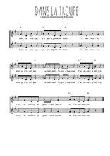 Téléchargez l'arrangement de la partition de Traditionnel-Dans-la-troupe en PDF à deux voix