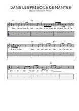 Téléchargez la tablature de la musique Traditionnel-Dans-les-prisons-de-Nantes en PDF