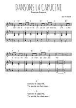 Téléchargez la partition de Dansons la Capucine en PDF pour Chant et piano