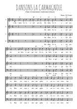 Téléchargez l'arrangement de la partition de Traditionnel-Dansons-la-carmagnole en PDF à quatre voix